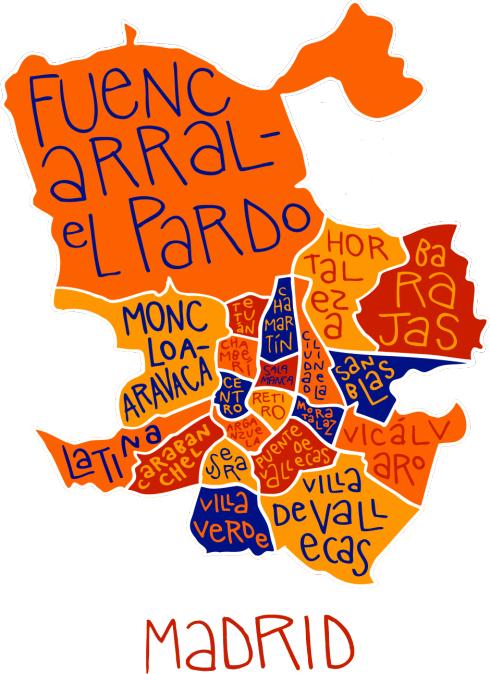 Distritos madrid barrios de madrid for Barrio ciudad jardin madrid