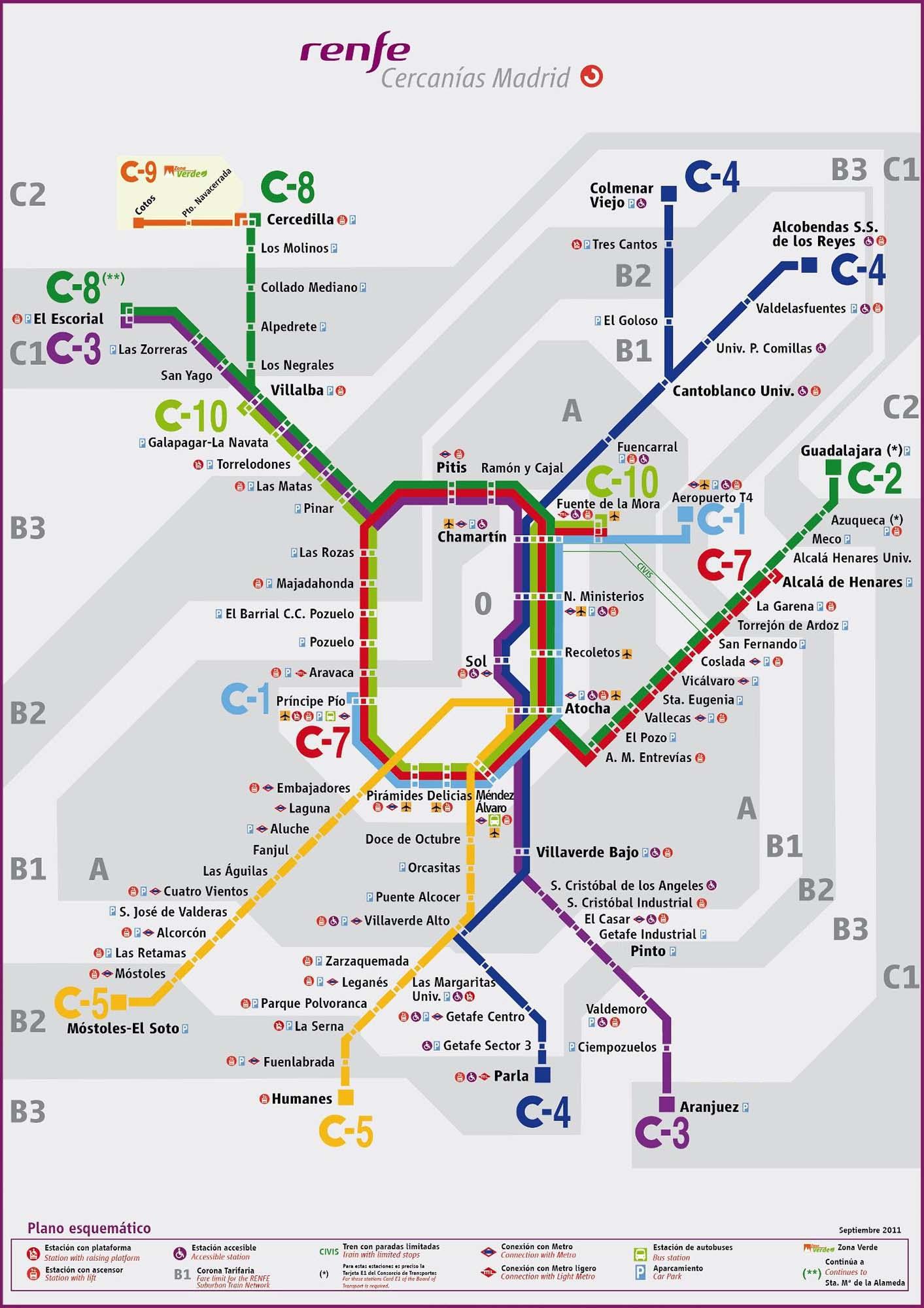 mapa cercanias madrid