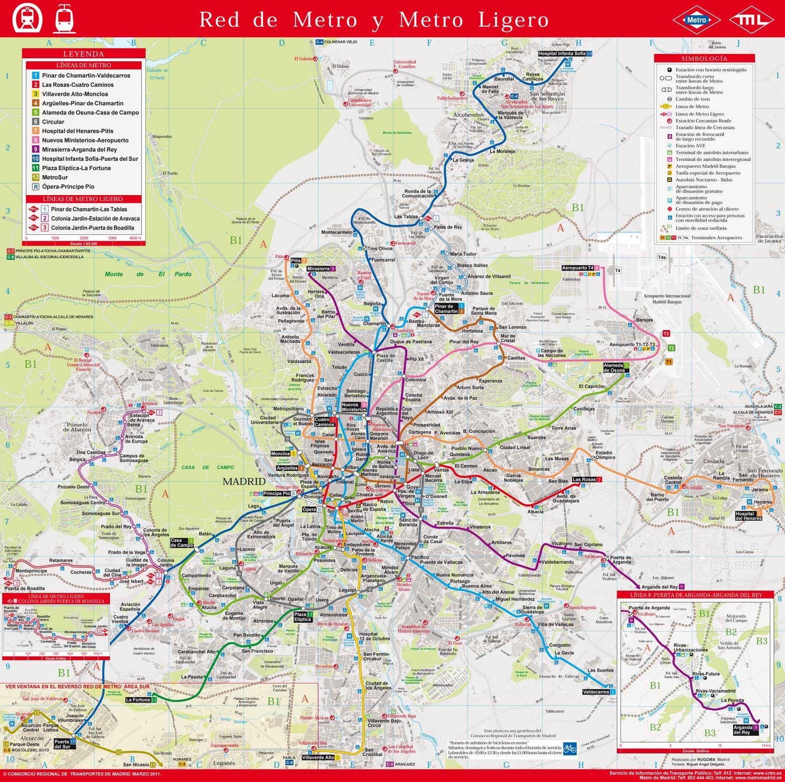 metro madrid geografico