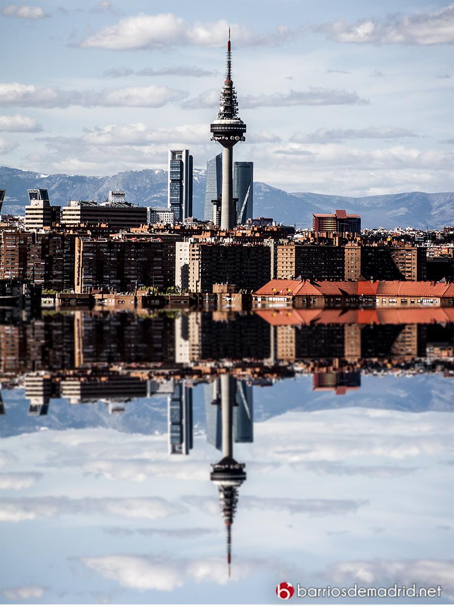 madrid reflejo mar costa piruli torre españa 4 torres skyline
