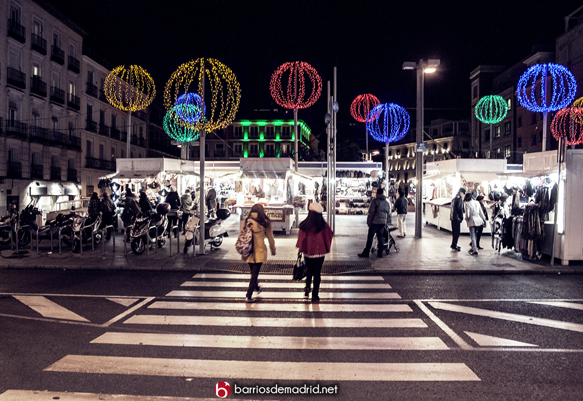 luces de navidad en santo domingo madrid