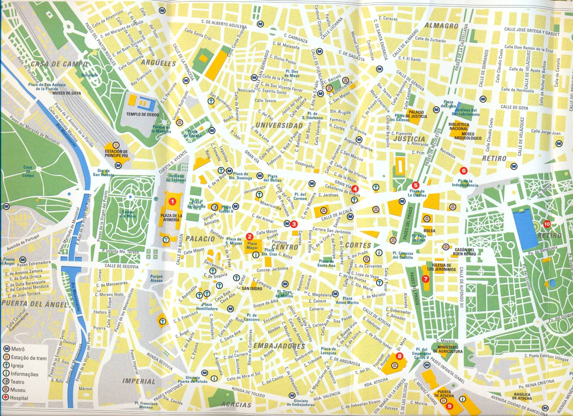 Mapa de madrid barrios de madrid for Codigo postal del barrio de salamanca en madrid