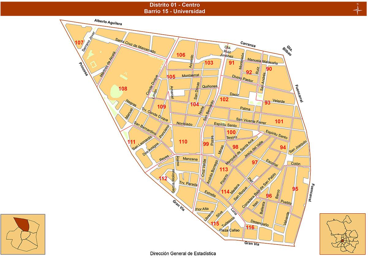 Barrio Chueca Madrid Mapa.Mapas Del Centro De Madrid Barrios De Madrid