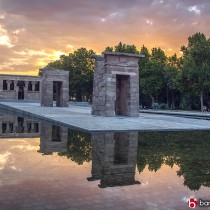 atardecer en el templo de debod