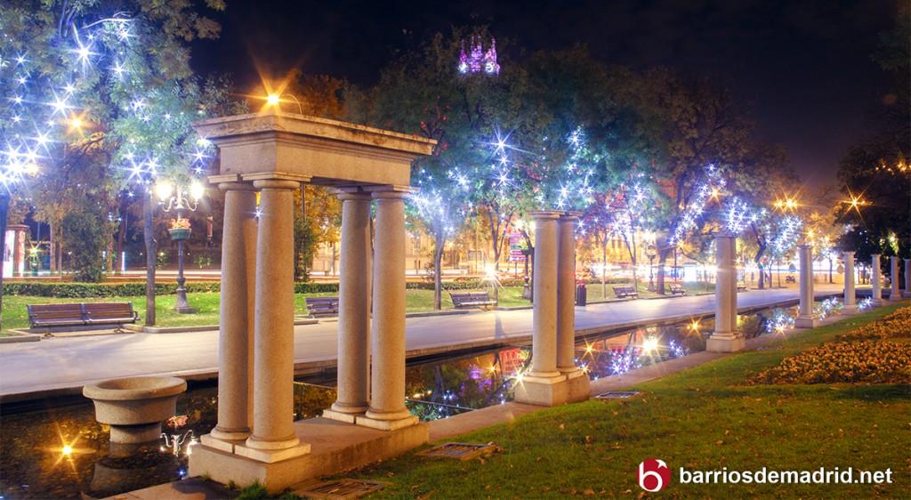 luces de navidad madrid 2016 recoletos paseo arboles columna