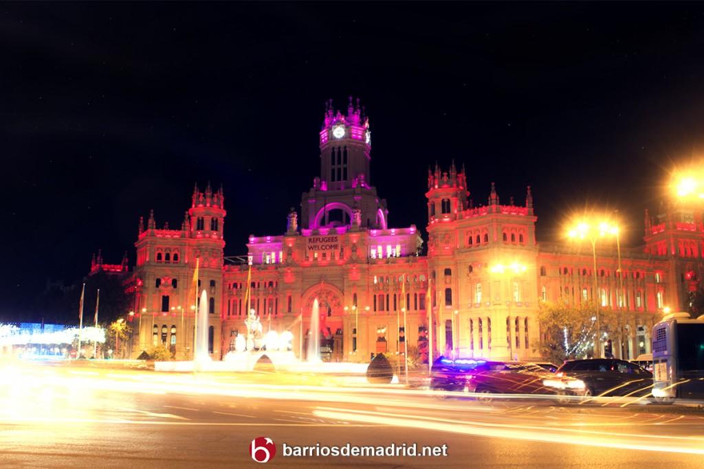 navidad palacio cibeles madrid luces plaza 2015