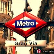 metro gran via icono logo calle cartel estación