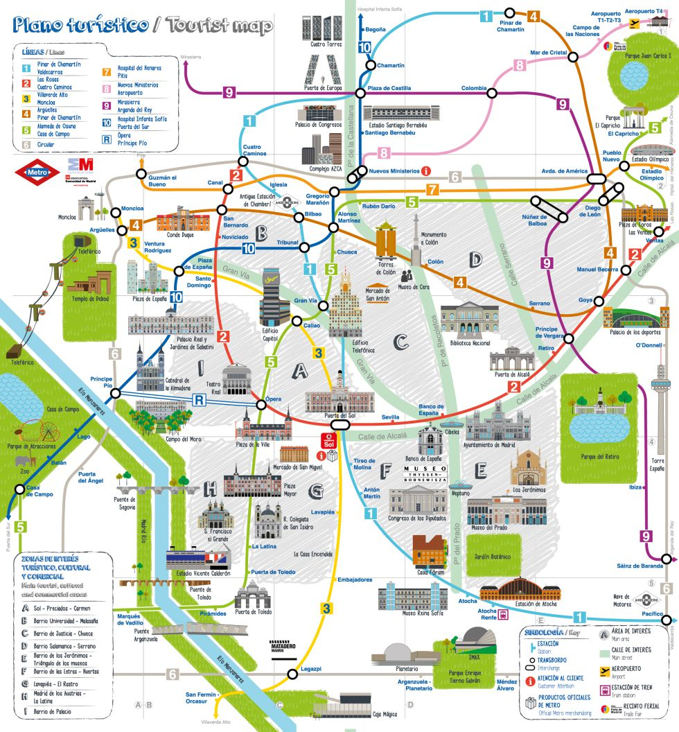 mapa turismo madrid