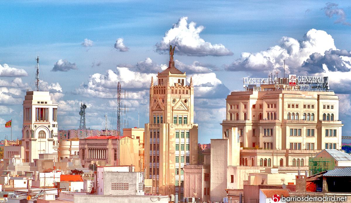 Círculo de Bellas artes, Petit Palace Alcala Torre y Edificio Vitalicio