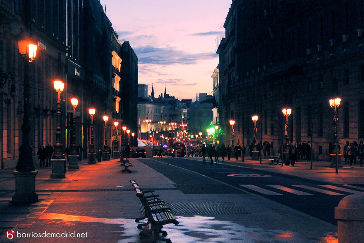 calle alcala noche