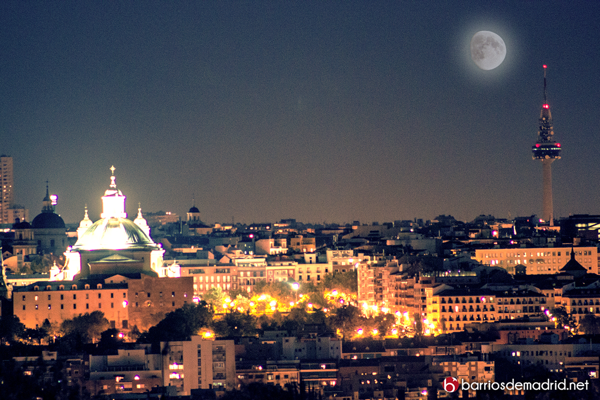 madrid noche luna