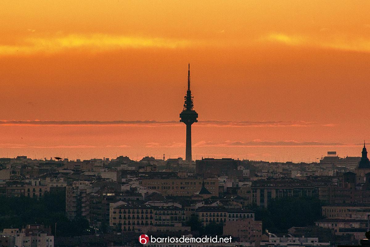 piruli amanecer madrid torre españa
