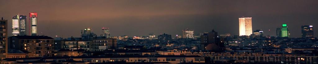 madrid skyline noche panoramica alta resolución