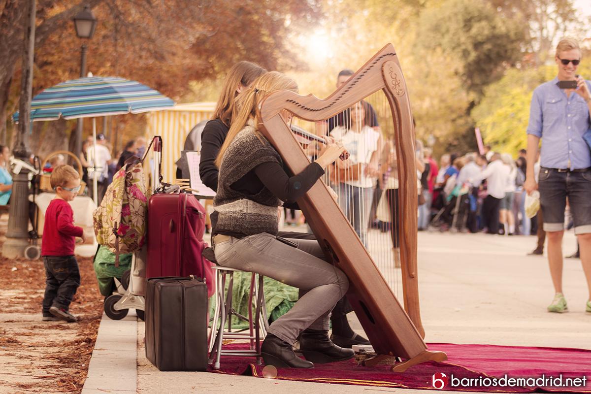 arpa violin retiro artistas callejeros