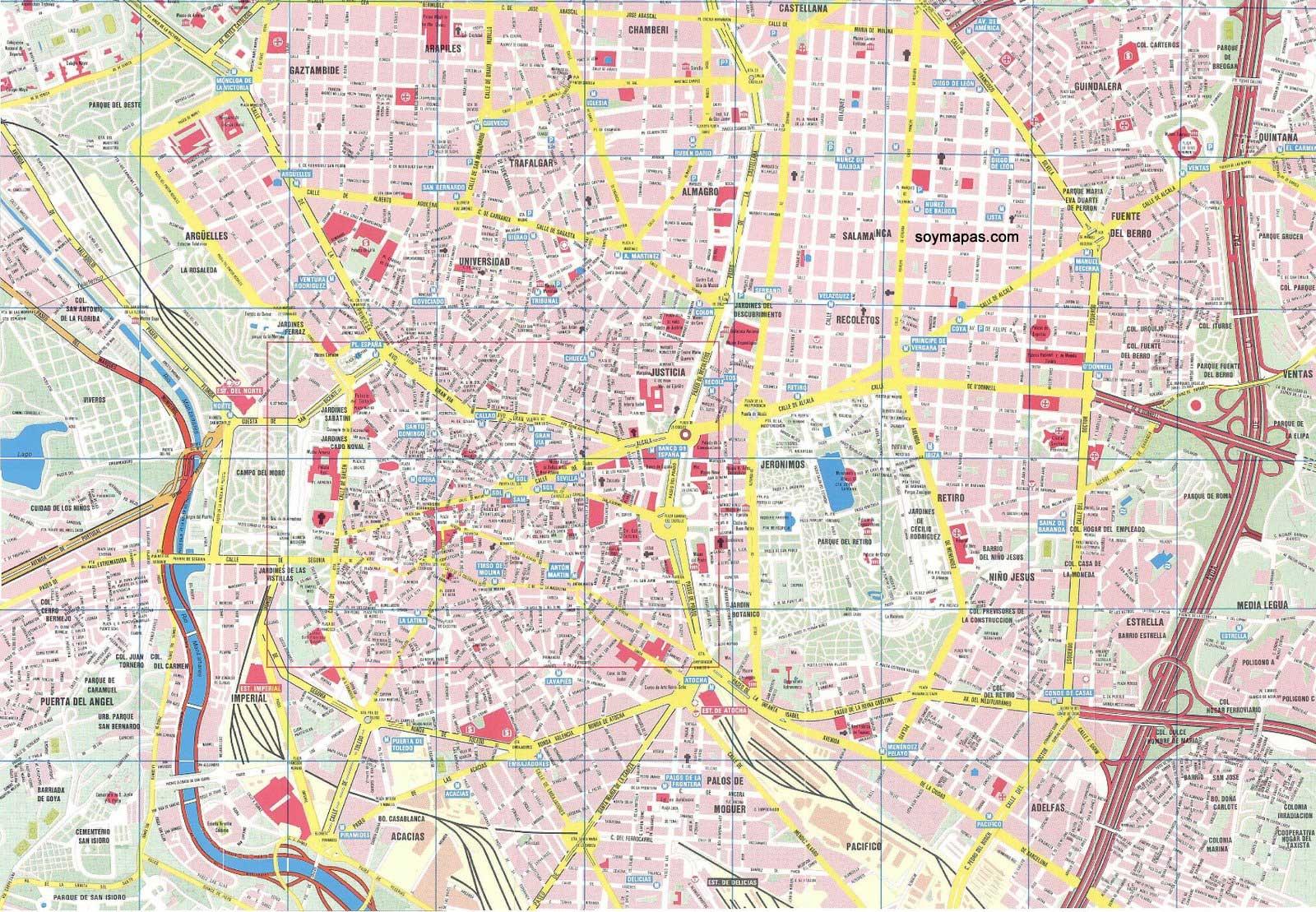 mapa de madrid Mapa de Madrid | Barrios de Madrid mapa de madrid
