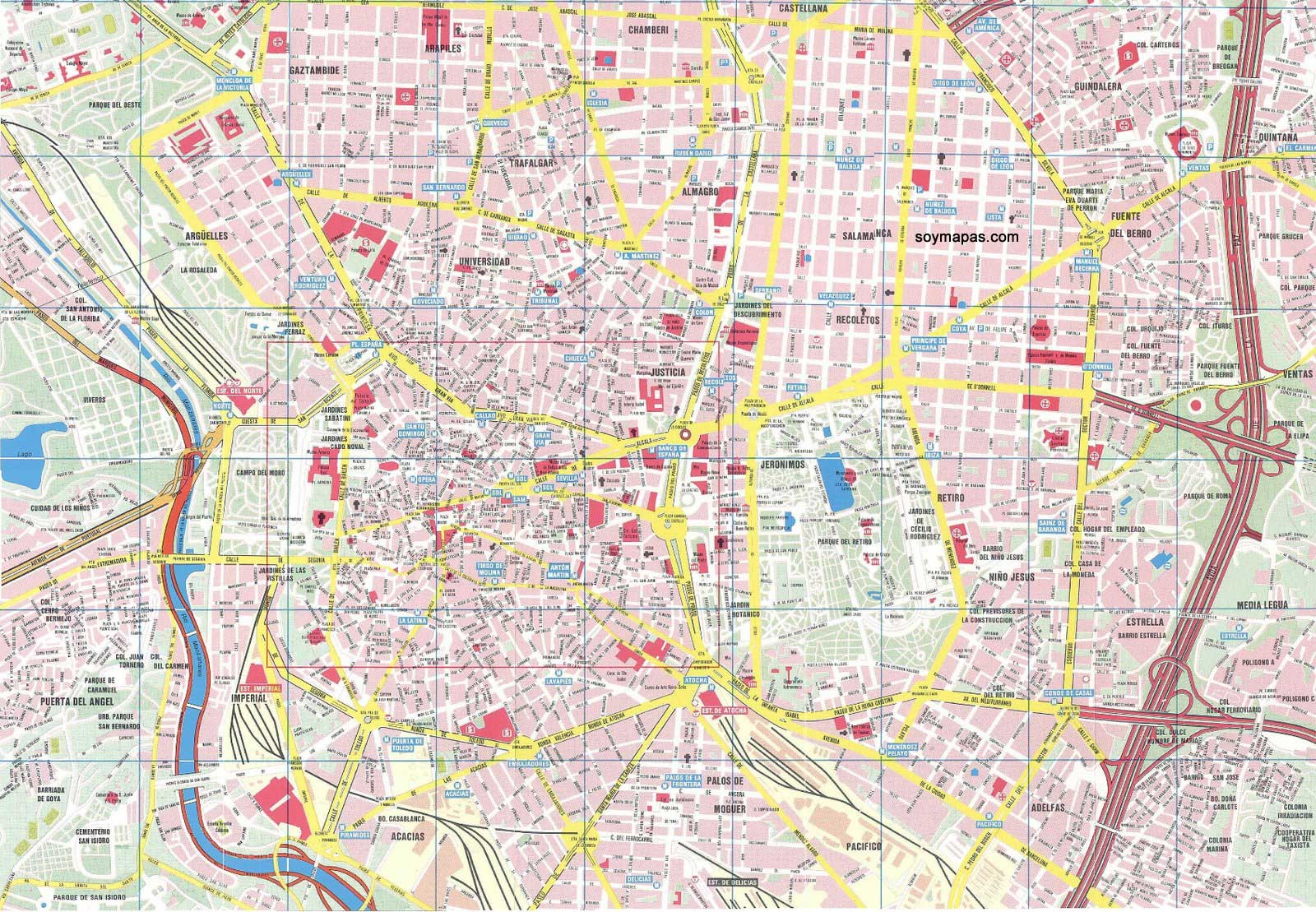 mapa madrid Mapa de Madrid | Barrios de Madrid mapa madrid