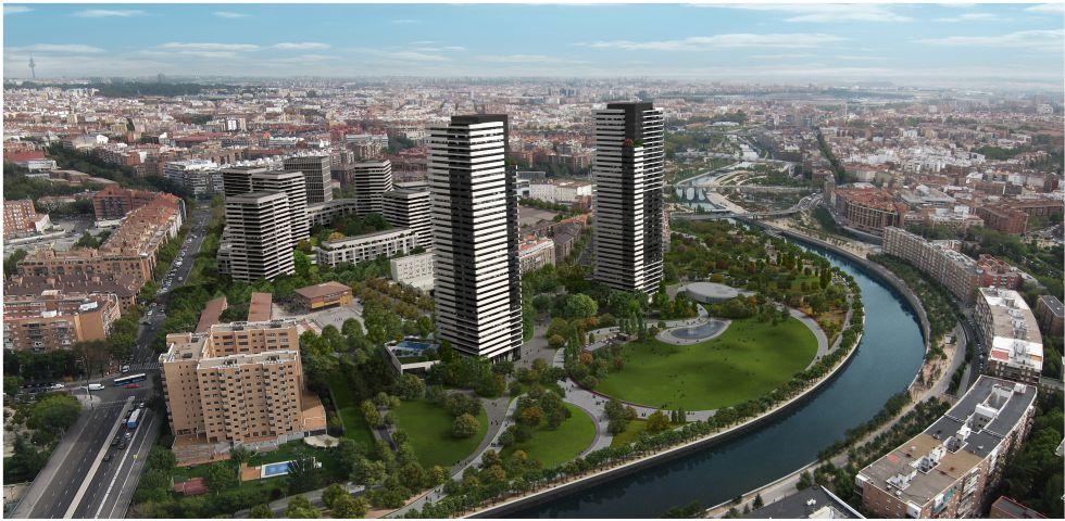 rascacielos calderón madrid río m30