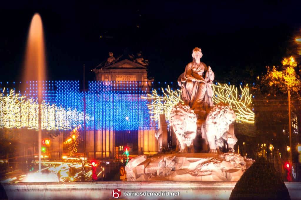cibeles navidad madrid 2015 luces puerta alcala fuente